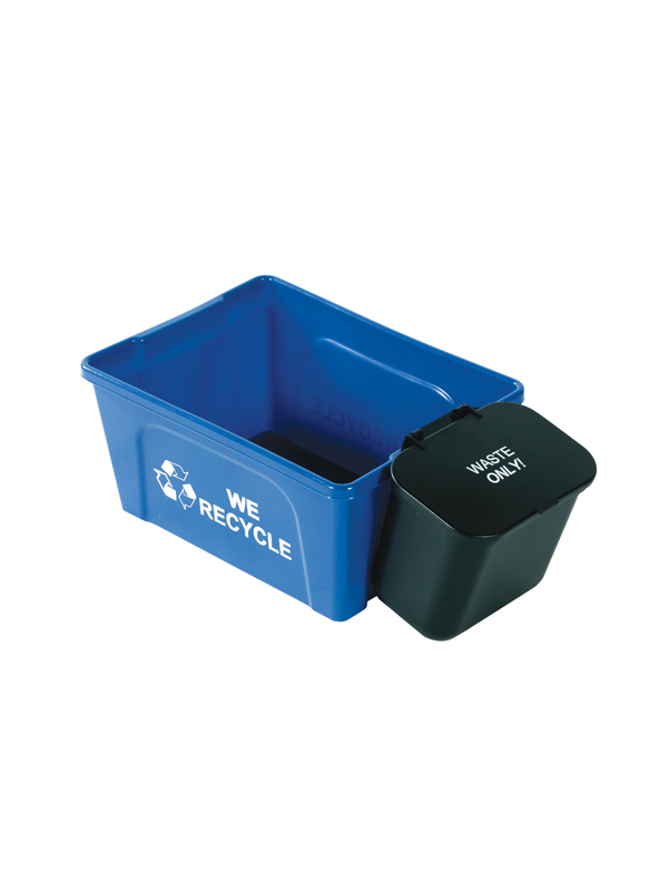 deskside-recycler-with-hanging-waste-basket