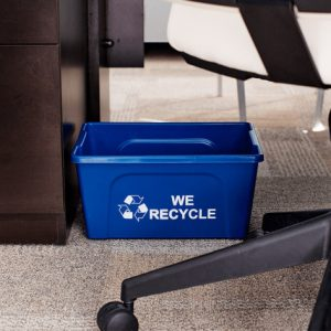 office recycling bin