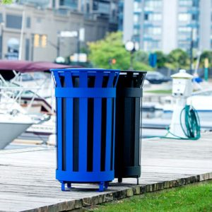 This multifaceted Outdoor Waste Receptacle offers quality containers devised to complement any outdoor space while promoting smart refuse collection.