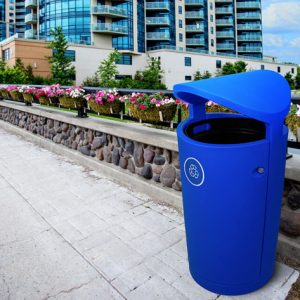 outdoor recycling and waste bins
